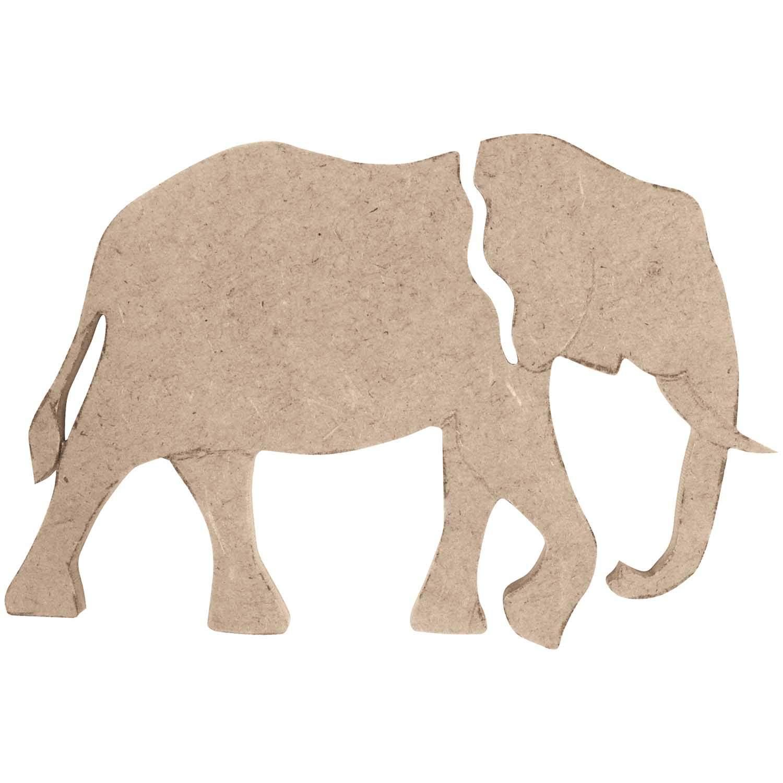 Rico Design MDF Elefant groß 8,5x12,5x0,5cm günstig online kaufen »