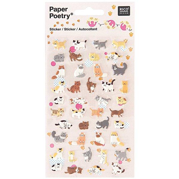 Paper Poetry Sticker Katzen