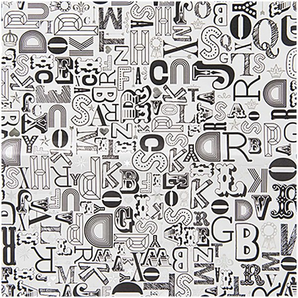 Rico Design Paper Patch Papier Buchstaben 30x42cm Hot Foil