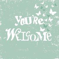 Ambiente Serviette You´re Welcome 33x33cm 20 Stück