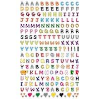 Paper Poetry Sticker Buchstaben mehrfarbig 10x19cm sortiert