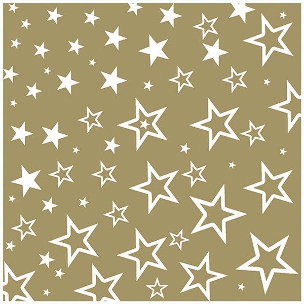 Ambiente Serviette Sterne 33x33cm 20 Stück