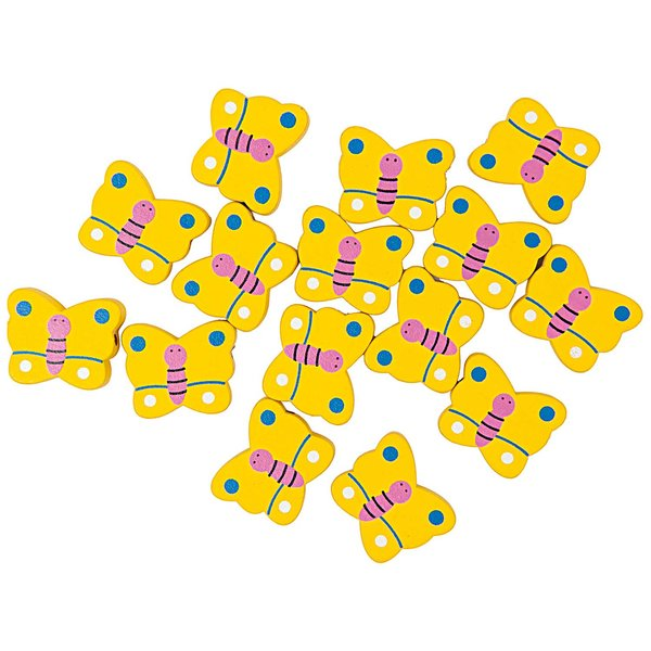 Rico Design Schmetterlinge gelb 25x21mm 15 Stück