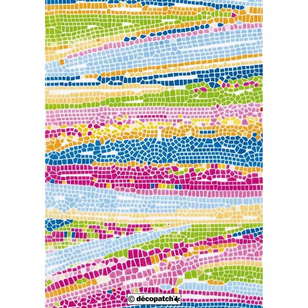 décopatch Papier Mosaik mehrfarbig 3 Bogen