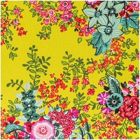 Rico Design Stoff Flower Power grün 50x160cm