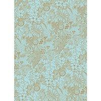 Rico Design SB Paper Patch Papier Spitze türkis 30x42cm 3 Bogen
