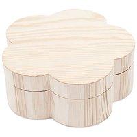 Rico Design Holzdose Blume 17,8x17,8x7cm