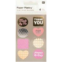 Paper Poetry Sticker Labels neon-metallic 4 Bogen
