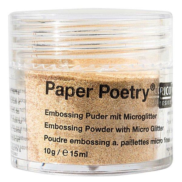 Paper Poetry Embossingpuder Mikroglitter gold 10g