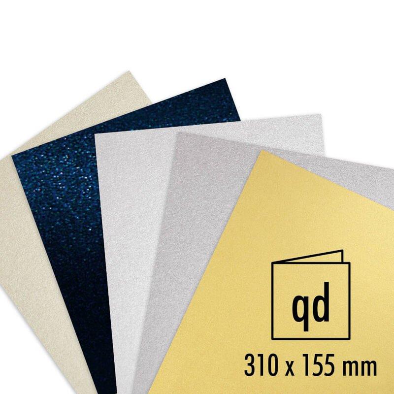 Artoz Doppelkarte Perle 250g/m² 5 Stück quadrat...