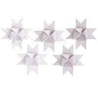 Rico Design Fröbelstreifen XL Weiß Kitt 40 Stück