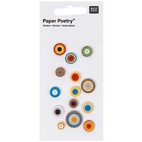 Paper Poetry Quilling Sticker Kreise mehrfarbig