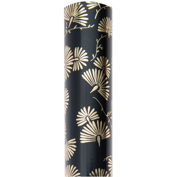 Paper Poetry Geschenkpapier Jardin Japonais Muster schwarz 70cm 2m