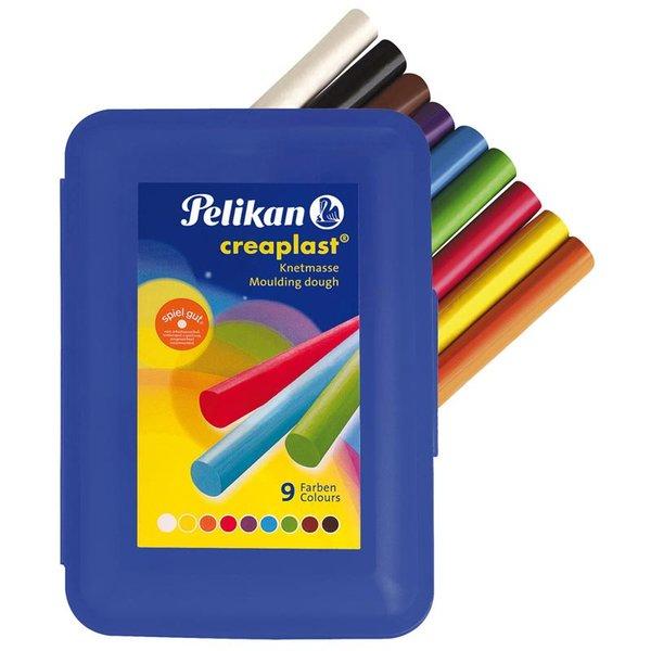Pelikan Creaplast Knete blaue Box 14 Stangen in 9 Farben