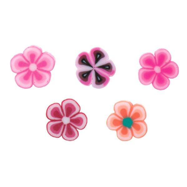 Jewellery Made by Me Perle Blumen rosa-rot 8x4mm 20 Stück
