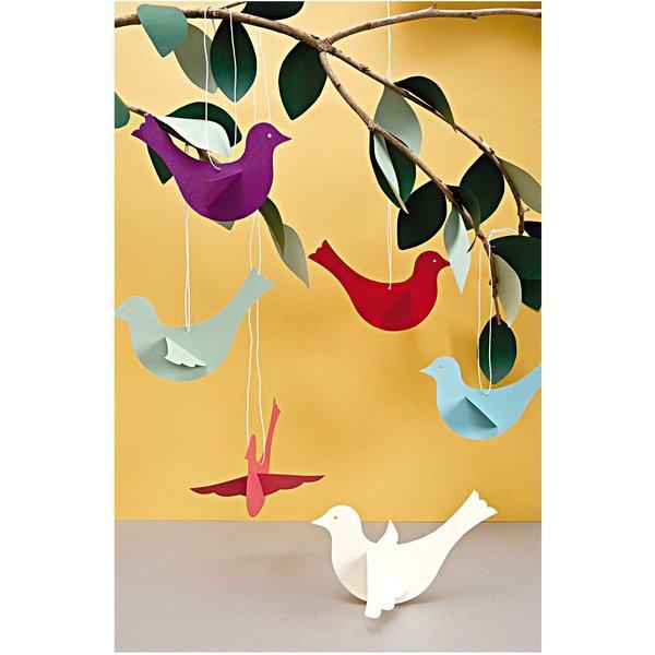 Paper Poetry Bastelset Vögel mehrfarbig 6 Stück