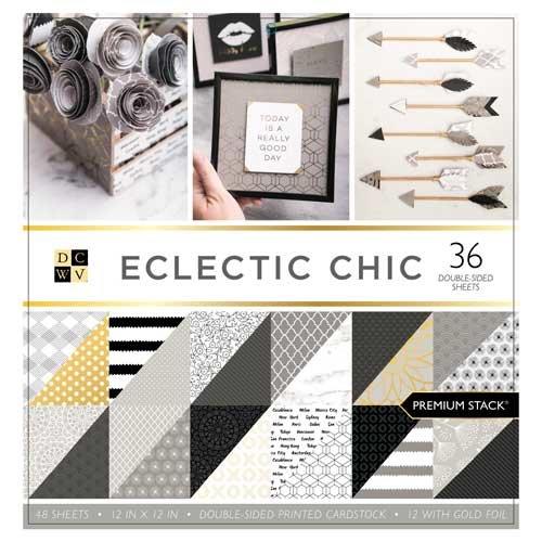 DECOHOBBY Scrapbooking Block Eclectic Chic 30,5x30,5cm 48 Blatt