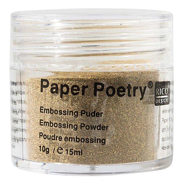 Paper Poetry Embossingpuder gold matt 10g