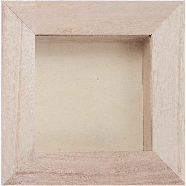 rico design 3d holz bilderrahmen 16x16cm kaufen. Black Bedroom Furniture Sets. Home Design Ideas