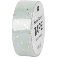 Paper Poetry Tape Punkte mint-gold 1,5cm 10m