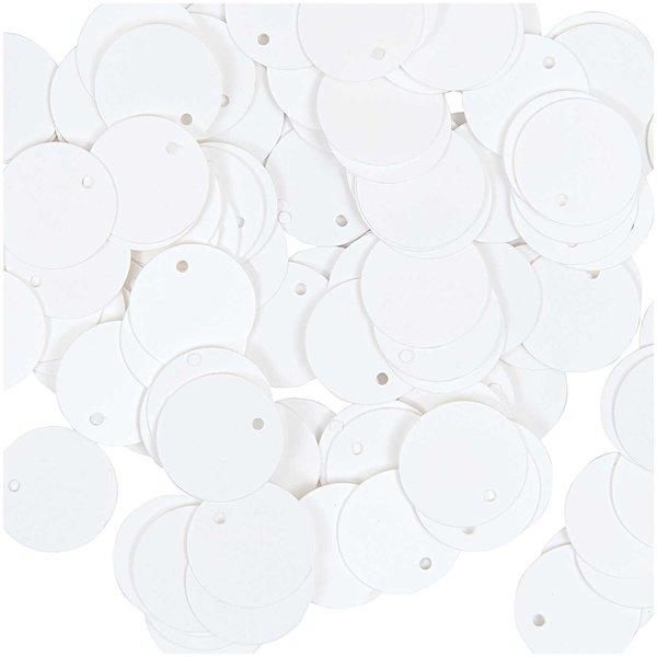 Jewellery Made by Me Pailletten zum Aufnähen weiß 12mm 5g