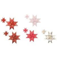 Paper Poetry Fröbelsterne gezeichnete Spitzen weiß-rot 40 Stück