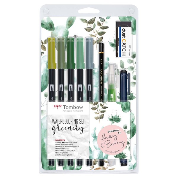 Tombow Watercoloring Set Greenery
