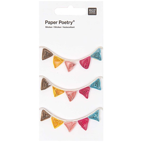 Paper Poetry Quilling Sticker Girlanden