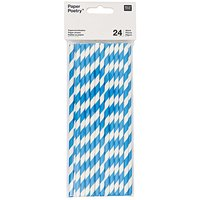 Paper Poetry Papierstrohhalme blau-weiß 24 Stück