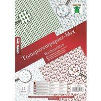 Nice Papers Transparentpapier Mix Weihnachten A4 12 Blatt