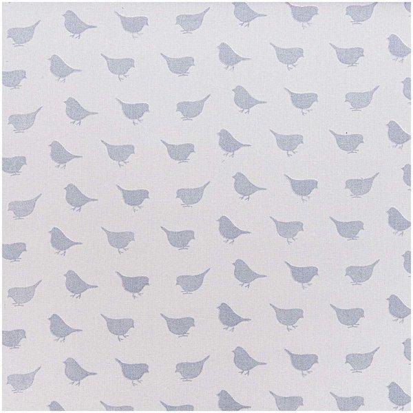 Rico Design Stoff Vögelchen grau 160cm
