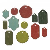 Sizzix Thinlits Die Set Gift Tags by Tim Holtz