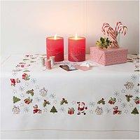 Rico Design Stickpackung Decke Weihnachtsteddy 90x90cm