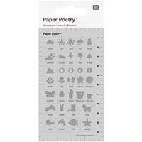 Paper Poetry Bullet Diary Schablone Outdoor 7x12cm
