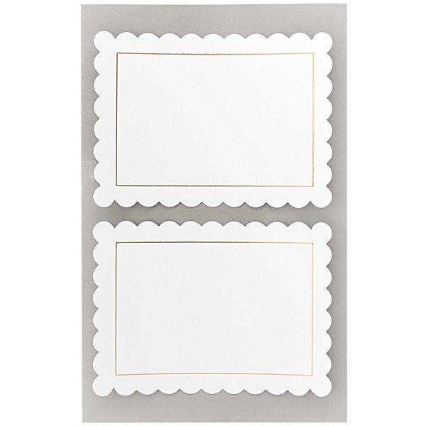 Paper Poetry Office Sticker Etiketten weiß mit Rosette 85x62mm 4 Bogen