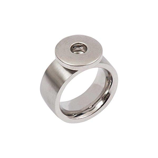 Rico Design Ring bombiert Edelstahl 19mm