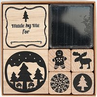 Paper Poetry Stempelset Weihnachten Countryside 6 Stück