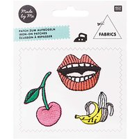 Made by Me Patches Kirsche-Banane-Mund 3 Stück zum Aufbügeln