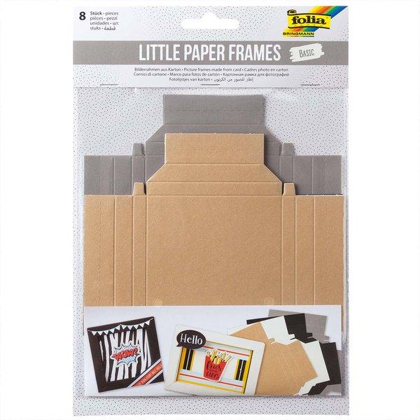 folia Little Paper Frames Bilderrahmen Basic 8 Stück