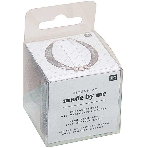 Jewellery Made by Me Schlauchkette silber mit Verschluss 10mm 1m