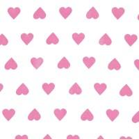 Rico Design Stoff weiß-pinke Herzen 50x55cm