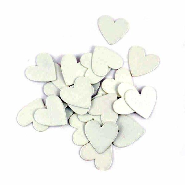 Streu Herzen weiß Holz 24 Stück