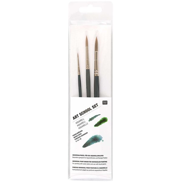 Rico Design Pinsel Art School Aquarellset 3teilig