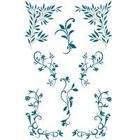 Paper Poetry Silikonstempel florale Schnörkel 10 Motive