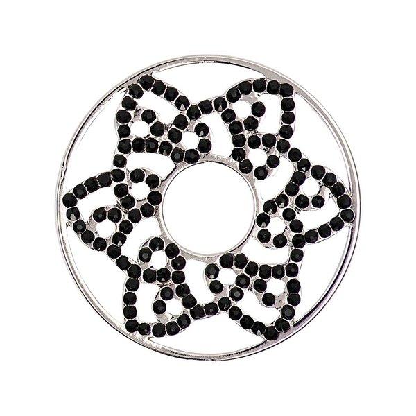 Rico Design Scheibe Stern strass schwarz 30mm