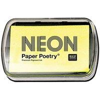 Paper Poetry Stempelkissen neongelb 9x6cm