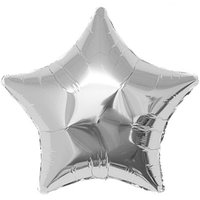 YEY! Let's Party Folienballon Stern silber 36cm