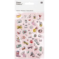 Paper Poetry Epoxy Sticker cool Icons