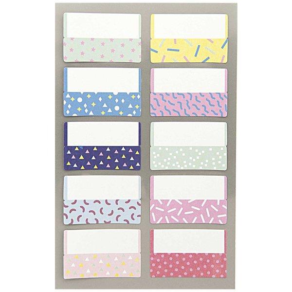 Paper Poetry Office Sticker Register Etiketten Konfetti 40x25mm 4 Bogen