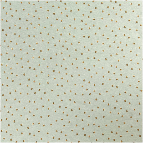 Rico Design Jerseystoff Baby Collection Sterne mint-gold 70x100cm
